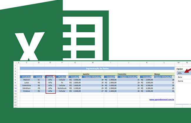 Criando Segmentação de Dados no Excel