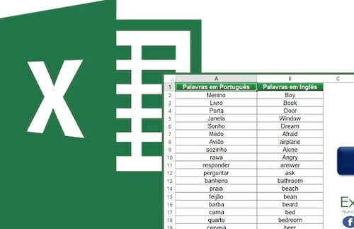Planilha para aprender inglês no Excel 4.0