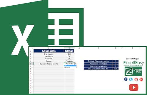 Planilha de Checklist no Excel 4.0