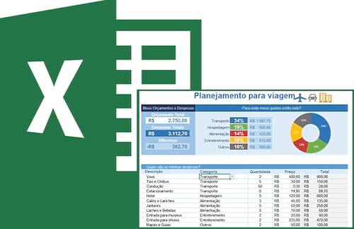 Planilha de planejamento de viagem no Excel 3.0
