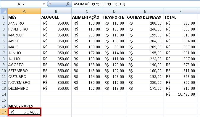 Função =Soma no Excel