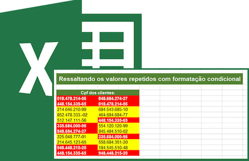 Encontrando valores repetidos ou exclusivos com formatação condicional no Excel