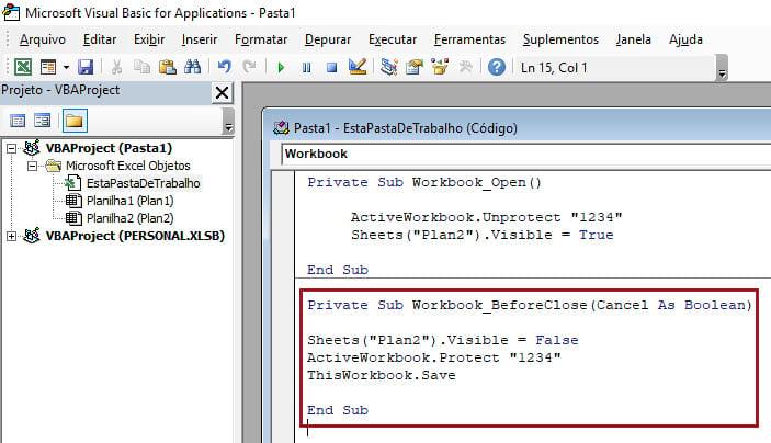 Como fazer o usuário forçar a execução de uma macro no Excel