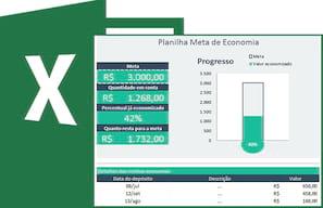 Planilha gratuita de meta econômica no Excel 4.0