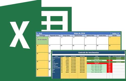 Calendário e agendador de tarefas 2016 no Excel