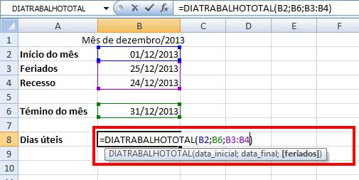 Como calcular datas no Excel