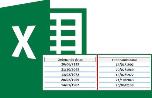 Como ordenar datas no Excel