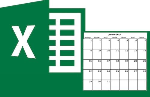 Como criar um calendário mensal no Excel 2016, 2013 ou 2010