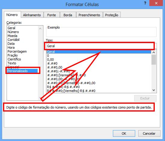 Como formatar/personalizar células e números no Excel