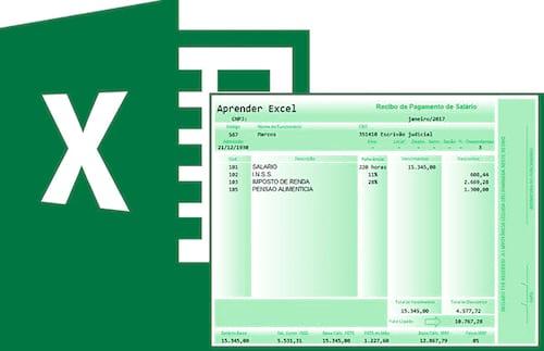 Planilha de contracheque (holerite) no Excel 5.0