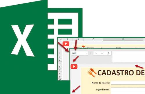 Ocultando a contagem de linhas e colunas no Excel