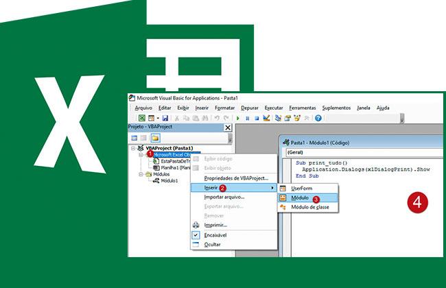 Criando um botão que imprime no Excel