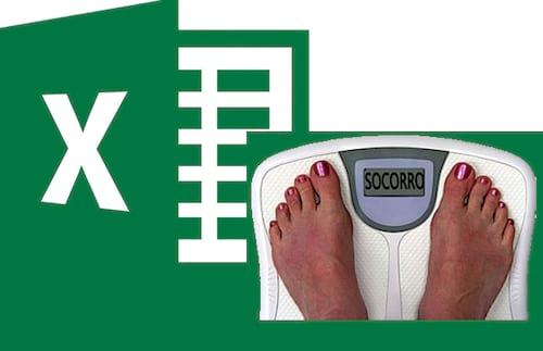 Planilha de calcular IMC no Excel