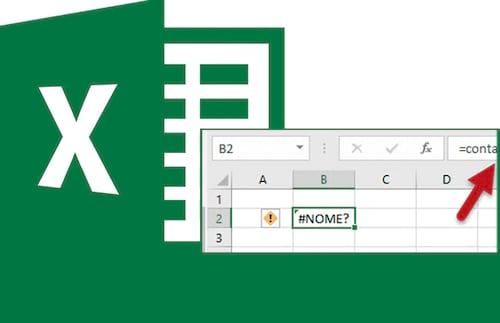 Como resolver o erro de #NOME? no Excel