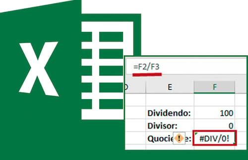 Como resolver o erro #DIV/0! no Excel
