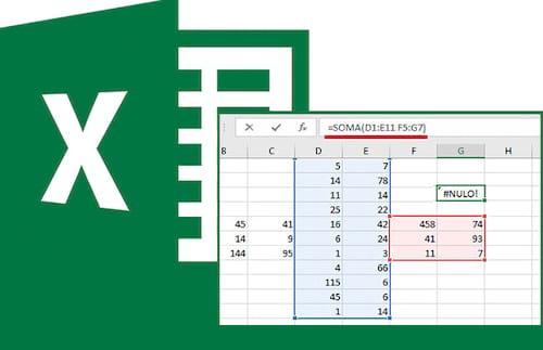 Como resolver o erro #NULO! no Excel