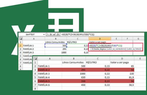 Como atribuir um valor mínimo a uma multiplicação no Excel