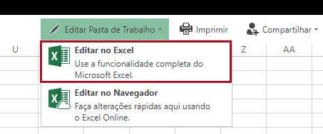 Como editar no programa ao invés do Office online