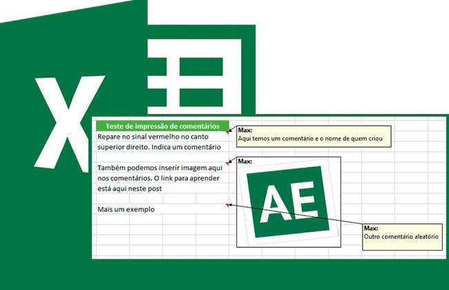 Imprimindo os comentários das planilhas do Excel