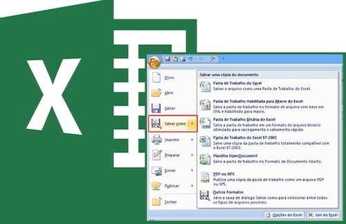 Qual opção escolher ao salvar uma planilha do Excel?