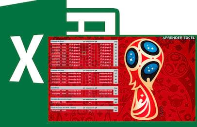 Tabela Copa do Mundo 2018 no Excel