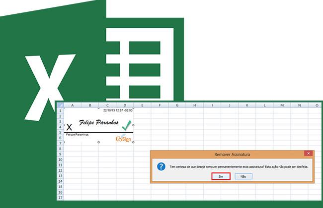 Como adicionar uma assinatura digital a uma planilha no Excel