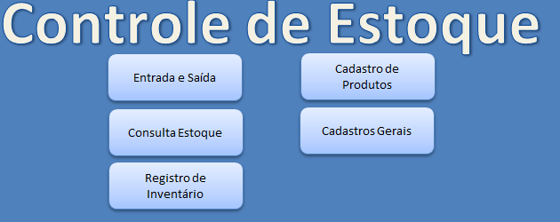Planilha Controle de Estoque no Excel 5.0