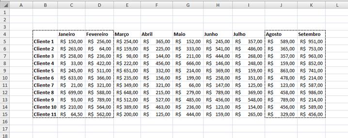 Como configurar uma área de impressão no Excel
