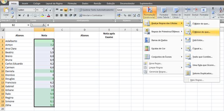 Como fazer formatação condicional no Excel (parte 1)