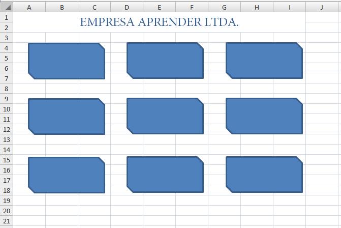 Como criar botões de atalho num documento Excel