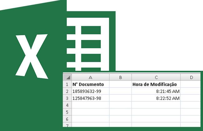 Registrando data e a hora de alteração no Excel com VBA