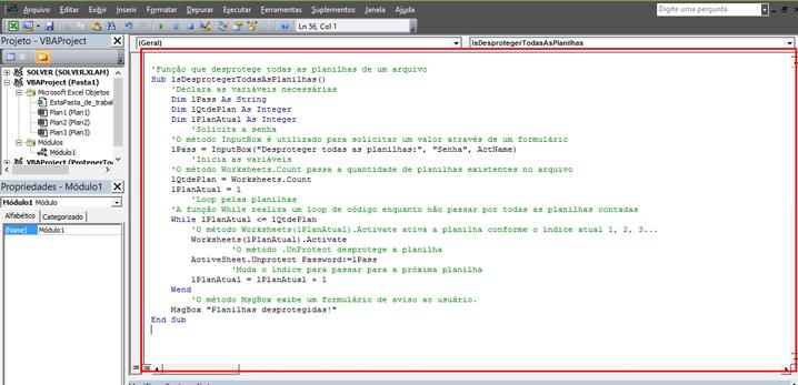 Protegendo uma planilha através de botões e VBA no Excel