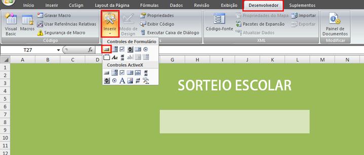 Como fazer uma página de sorteio no Excel