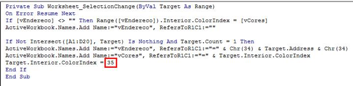 Adicionando uma cor de fundo às células no Excel