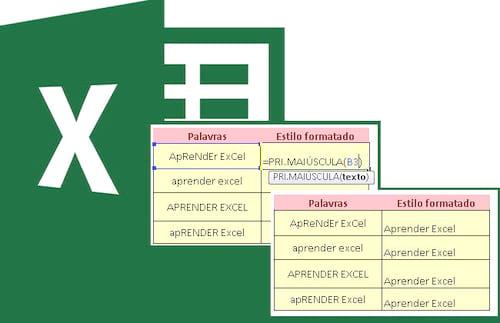 Função =Pri.maiúscula no Excel