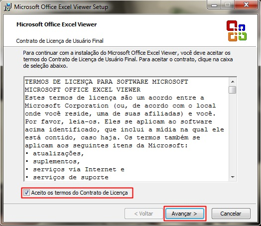 Visualizador de documentos Excel